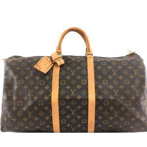 Louis Vuitton Keepall 55 Duffel Monogram Gym Bag